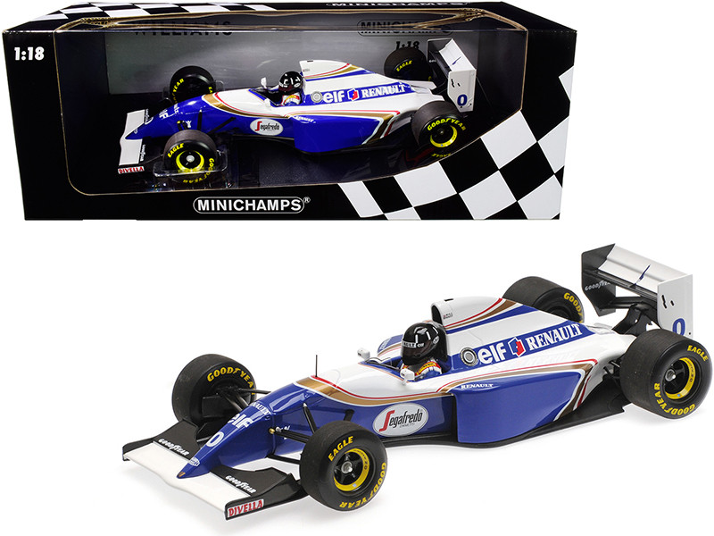 Williams Renault FW16 #0 Damon Hill 2nd Place Formula One Brazilian Grand Prix 1994 Limited Edition 204 pieces Worldwide 1/18 Diecast Model Car Minichamps 110940100