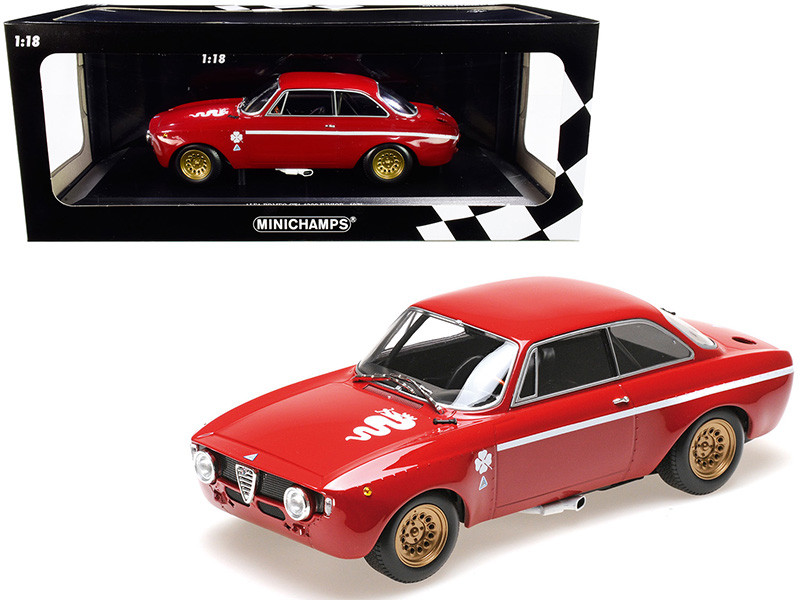 1971 Alfa Romeo GTA 1300 Junior Red Limited Edition 600 pieces Worldwide 1/18 Diecast Model Car Minichamps 155120020