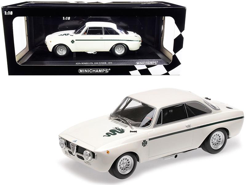 1971 Alfa Romeo GTA 1300 Junior White Limited Edition 330 pieces Worldwide 1/18 Diecast Model Car Minichamps 155120021