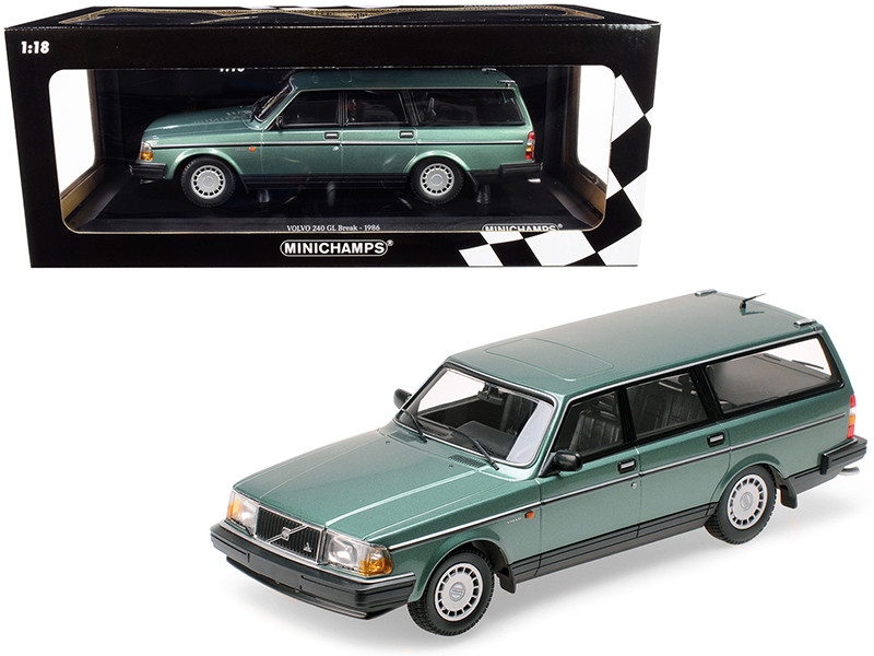 1986 Volvo 240 GL Break Green Metallic Limited Edition 600 pieces Worldwide 1/18 Diecast Model Car Minichamps 155171410