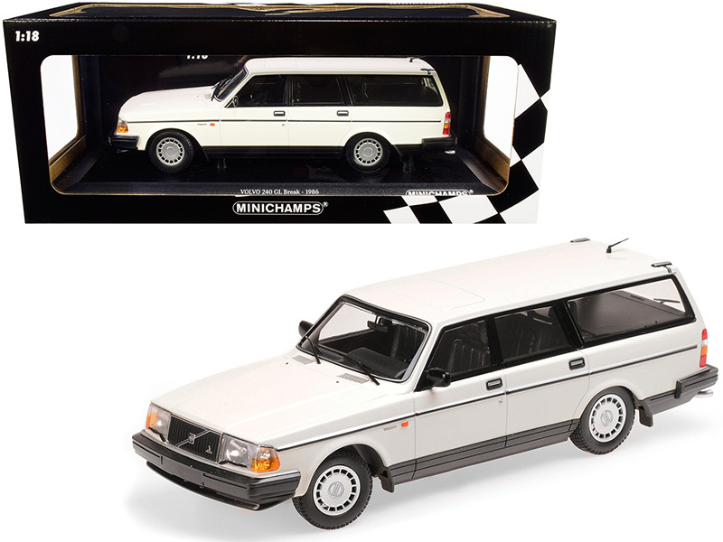1986 Volvo 240 GL Break White Limited Edition 504 pieces Worldwide 1/18 Diecast Model Car Minichamps 155171412