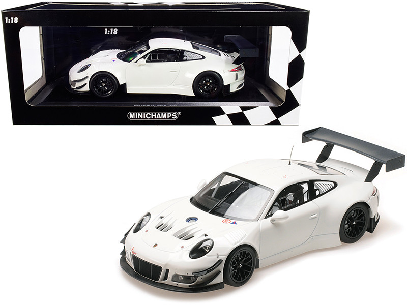 2018 Porsche 911 GT3 R White Limited Edition 300 pieces Worldwide 1/18 Diecast Model Car Minichamps 155186900