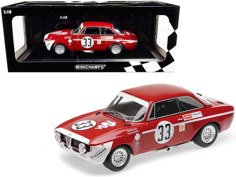 Alfa Romeo GTA 1300 Junior #33 Hezemanns Van Lennep Winners Division 1 4H Jarama 1972 Limited Edition 300 pieces Worldwide 1/18 Diecast Model Car Minichamps 155721233