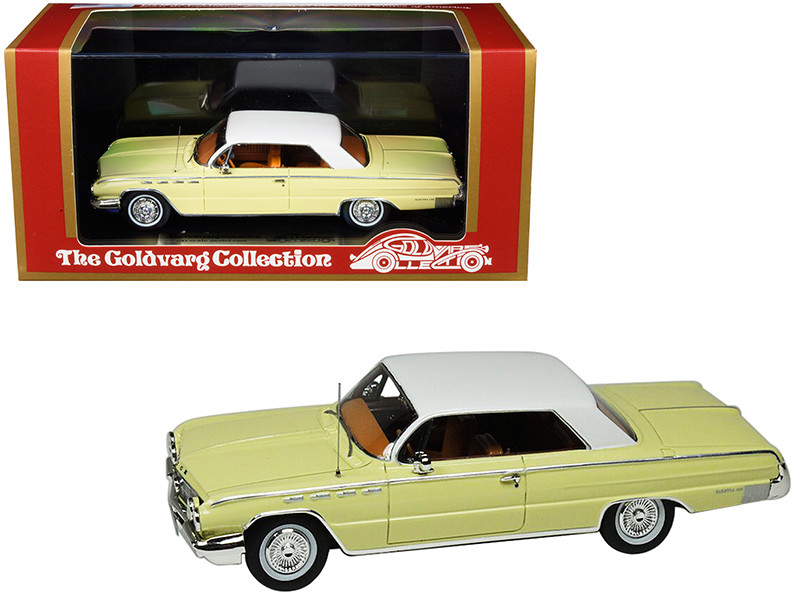 1962 Buick Electra 225 Cameo Cream White Top Limited Edition 210 pieces Worldwide 1/43 Model Car Goldvarg Collection GC-013 A