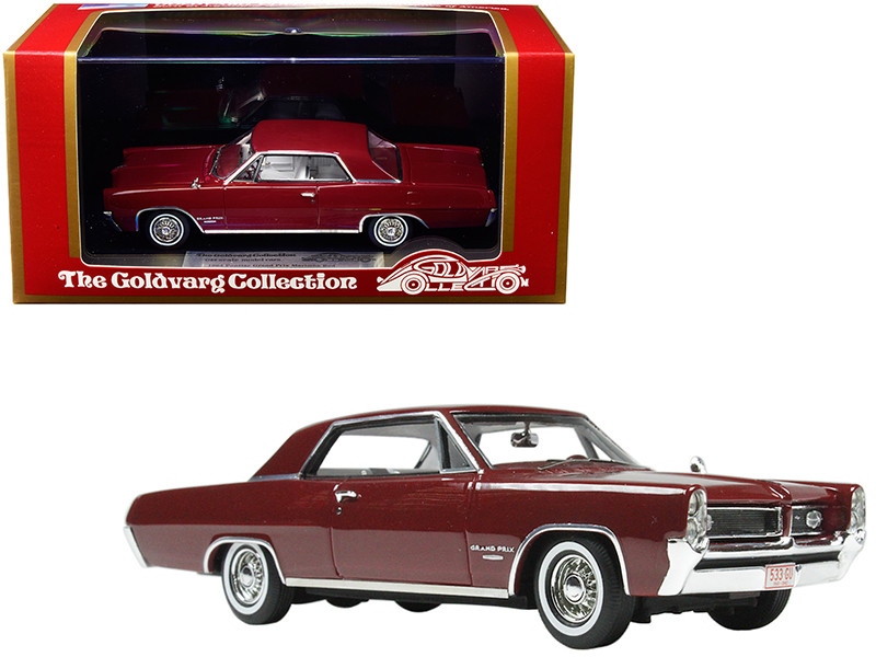 1964 Pontiac Grand Prix Marimba Red White Interior Limited Edition 230 pieces Worldwide 1/43 Model Car Goldvarg Collection GC-015 A