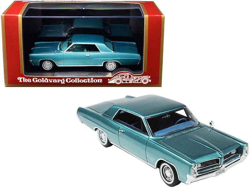 1964 Pontiac Grand Prix Aquamarine Metallic Limited Edition 210 pieces Worldwide 1/43 Model Car Goldvarg Collection GC-015 B