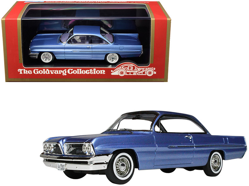1961 Pontiac Catalina Twilight Mist Blue Metallic Limited Edition 220 pieces Worldwide 1/43 Model Car Goldvarg Collection GC-017 A