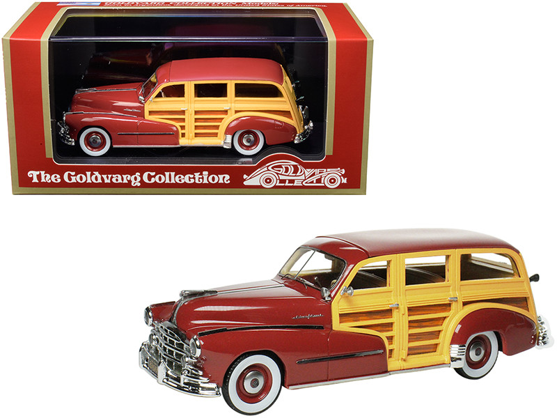 1948 Pontiac Streamlined Woodie Rio Red Limited Edition 200 pieces Worldwide 1/43 Model Car Goldvarg Collection GC-034 B