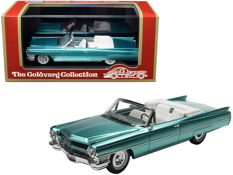 1964 Cadillac DeVille Convertible Firemist Metallic Aquamarine Limited Edition 210 pieces Worldwide 1/43 Model Car Goldvarg Collection GC-035 B