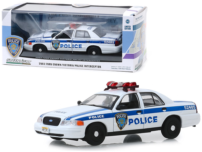 2003 Ford Crown Victoria Police Interceptor Port Authority of New York & New Jersey 1/43 Diecast Model Car Greenlight 86569