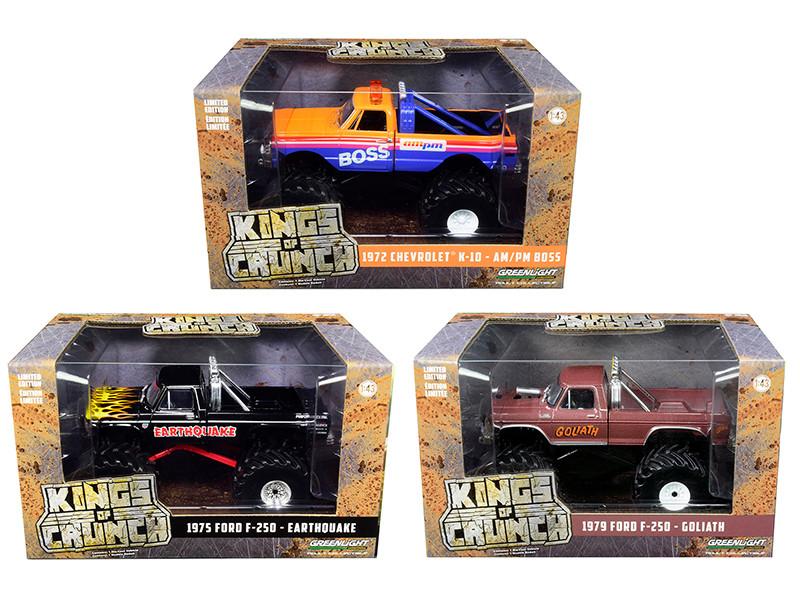 Kings of Crunch Series 2 Set of 3 Monster Trucks 1/43 Diecast Model Cars Greenlight 88021 88022 88023