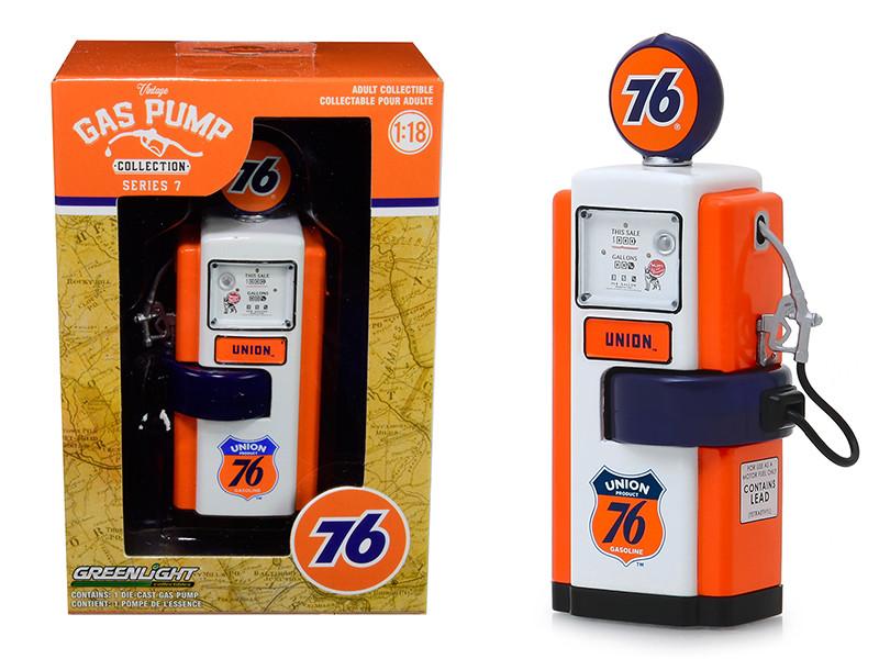 1948 Wayne 100-A Gas Pump Union 76 Gasoline Vintage Gas Pumps Series 7 1/18 Diecast Model Greenlight 14070 B
