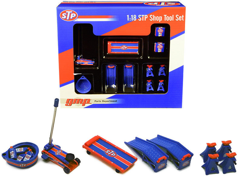 STP Shop Tools Set 6 pieces 1/18 Diecast Replica GMP 18939