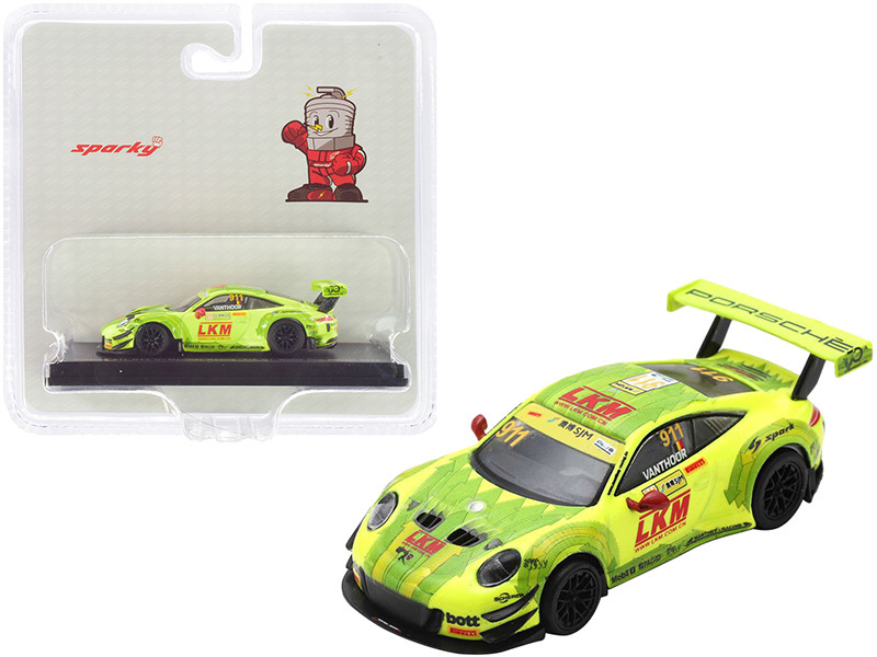 Porsche 911 GT3 R #911 Laurens Vanthoor Manthey-Racing FIA GT World Cup Macau 2018 1/64 Diecast Model Car Sparky Y127B