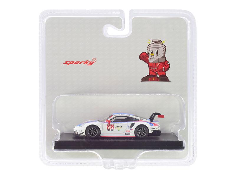 Porsche 911 RSR #912 Bamber Vanthoor Jaminet Porsche GT Team 24H Daytona 2019 1/64 Diecast Model Car Sparky Y136B