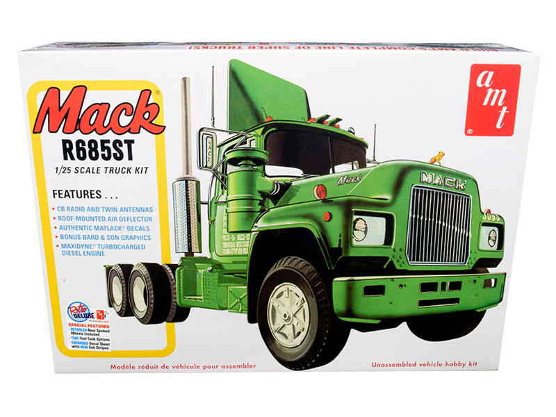 Skill 3 Model Kit Mack R685ST Semi Tractor Truck 1/25 Scale Model AMT AMT1039