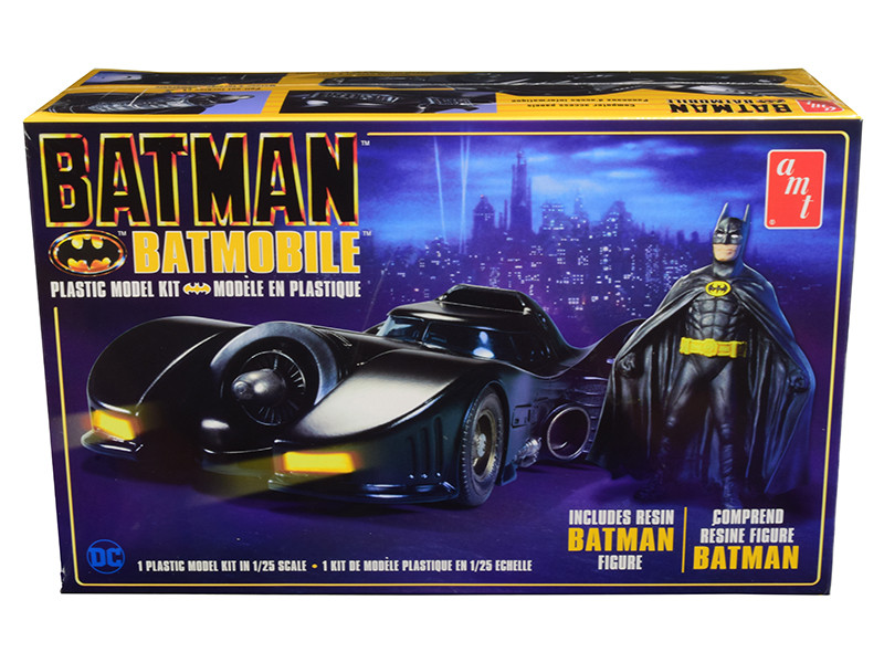 Skill 2 Model Kit Batmobile Resin Batman Figurine Batman 1989 1/25 Scale Model AMT AMT1107 M