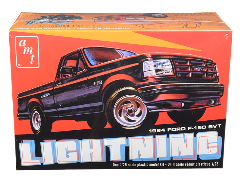 Skill 2 Model Kit 1994 Ford F-150 SVT Lightning Pickup Truck 1/25 Scale Model AMT AMT1110 M