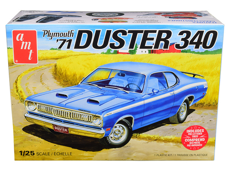 Skill 2 Model Kit 1971 Plymouth Duster 340 1/25 Scale Model AMT AMT1118 M