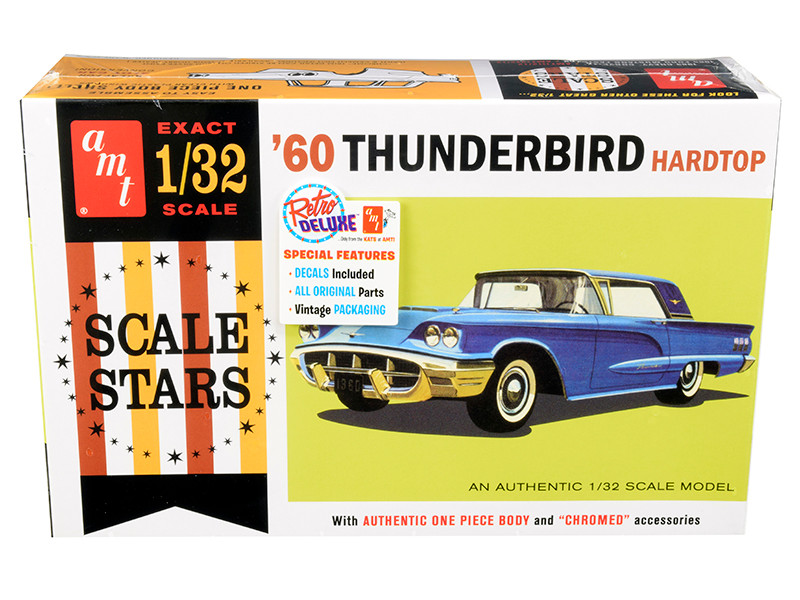 Skill 2 Model Kit 1960 Ford Thunderbird Hardtop 1/32 Scale Model AMT AMT1135