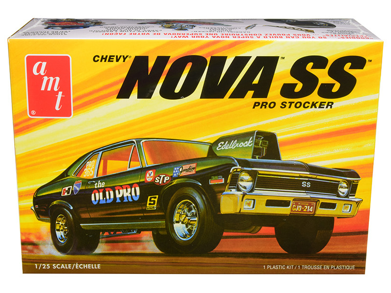 Skill 2 Model Kit 1972 Chevrolet Nova SS Pro Stocker 1/25 Scale Model AMT AMT1142 M