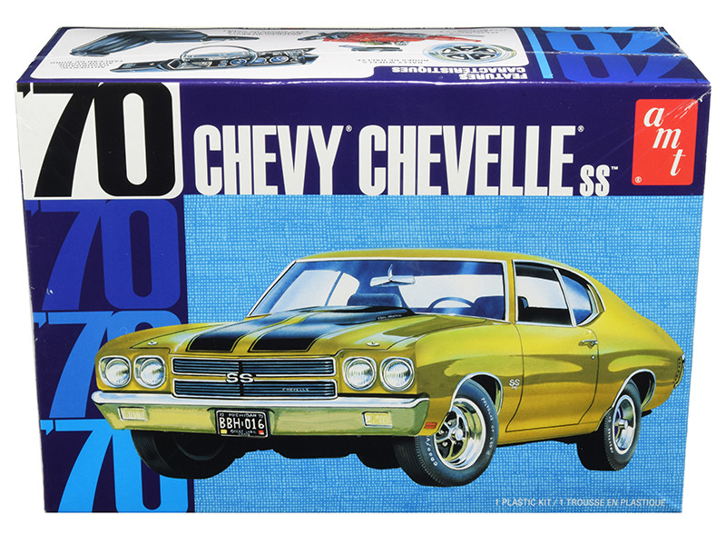 Skill 2 Model Kit 1970 Chevrolet Chevelle SS 1/25 Scale Model AMT AMT1143 M