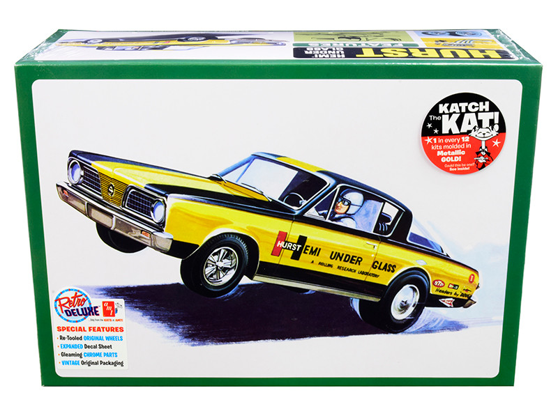 Skill 2 Model Kit 1966 Plymouth Barracuda Funny Car Hemi Under Glass 1/25 Scale Model AMT AMT1153