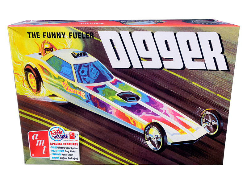 Skill 2 Model Kit Digger Dragster The Funny Fueler 1/25 Scale Model AMT AMT1154