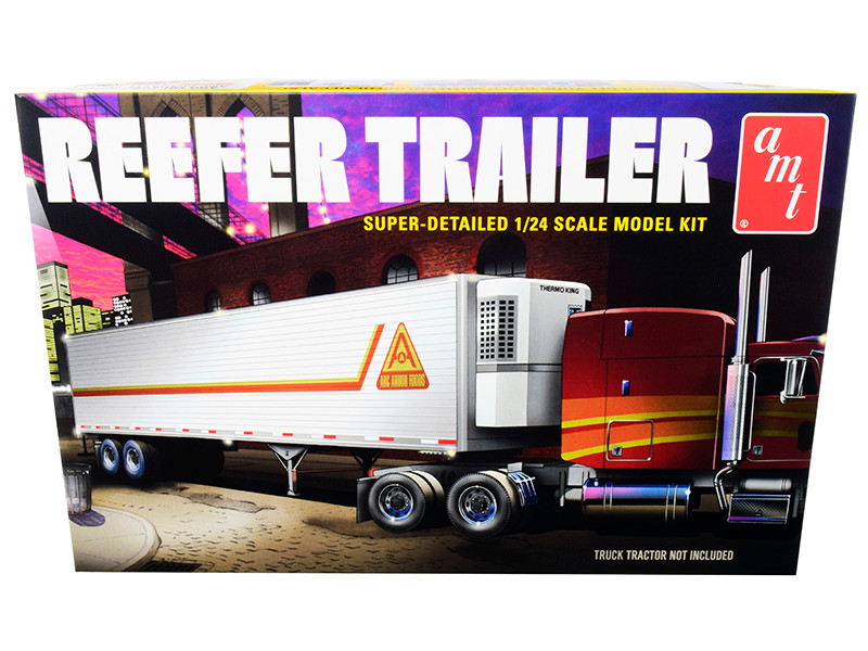Skill 3 Model Kit Reefer Trailer 1/24 Scale Model AMT AMT1170
