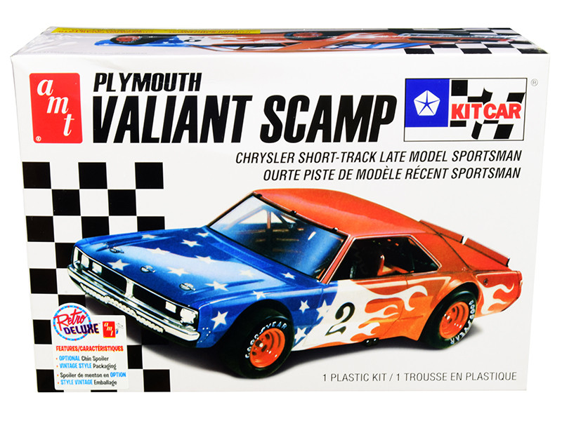 Skill 2 Model Kit Plymouth Valiant Scamp Kit Car 1/25 Scale Model AMT AMT1171 M