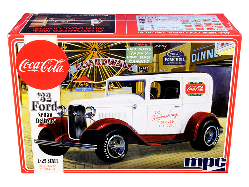 Skill 3 Model Kit 1932 Ford Sedan Delivery Coca Cola 1/25 Scale Model MPC MPC902