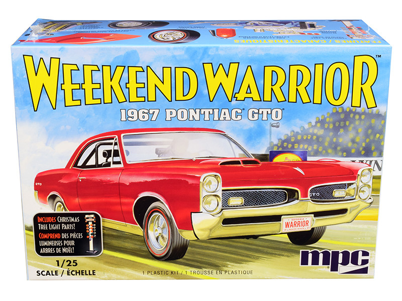 Skill 3 Model Kit 1967 Pontiac GTO Weekend Warrior 3 in 1 Kit 1/25 Scale Model MPC MPC918 M