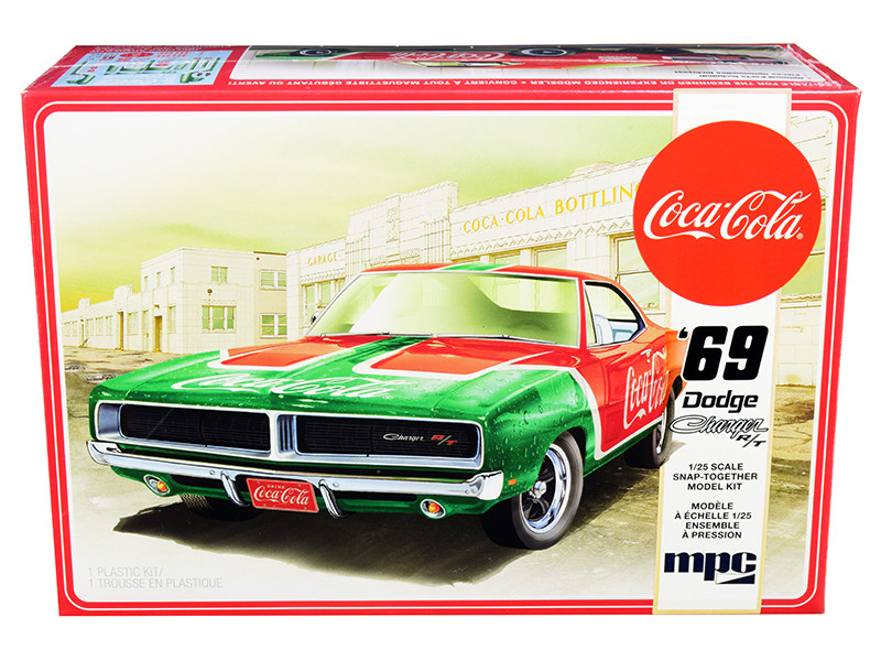 Skill 3 Snap Model Kit 1969 Dodge Charger RT Coca Cola 1/25 Scale Model MPC MPC919 M