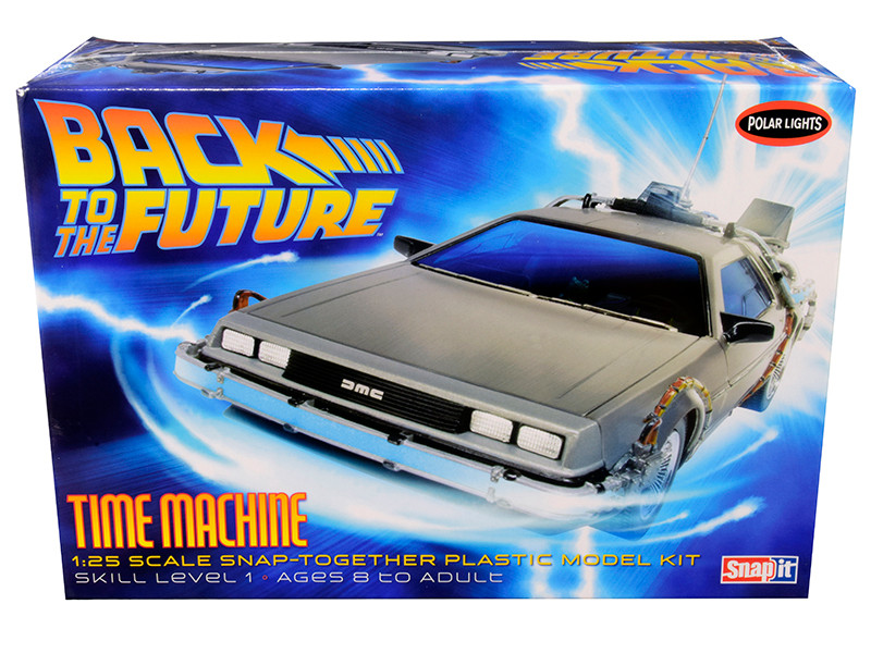Skill 1 Snap Model Kit Time Machine Back to the Future Movies 1/25 Scale Model Polar Lights POL911