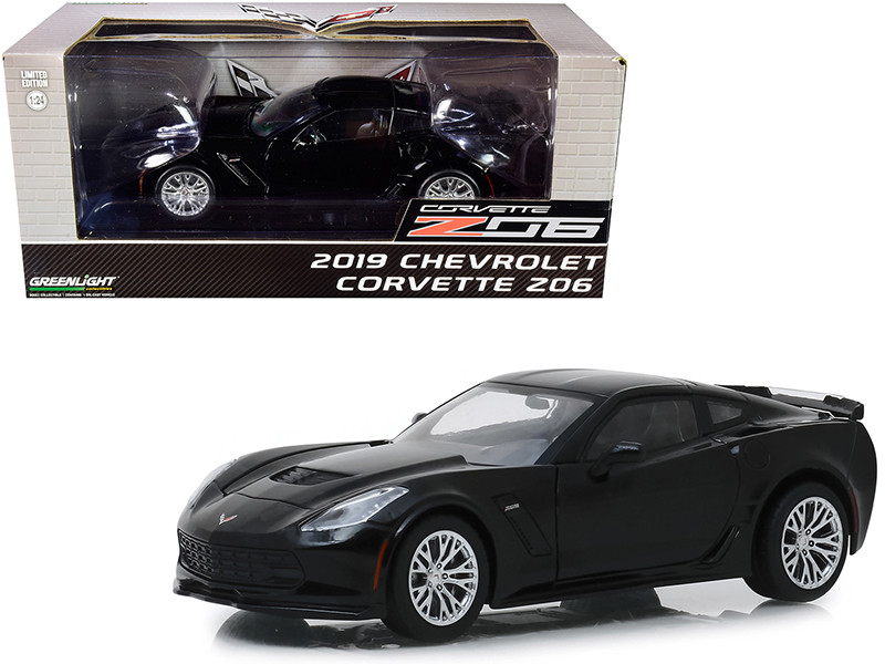 2019 Chevrolet Corvette Z06 Coupe Black 1/24 Diecast Model Car Greenlight 18255