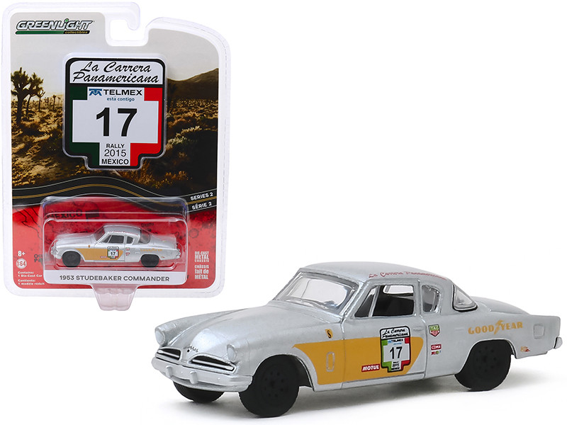 1953 Studebaker Commander #17 Goodyear Rally Mexico 2015 La Carrera Panamericana Series 2 1/64 Diecast Model Car Greenlight 13260 A
