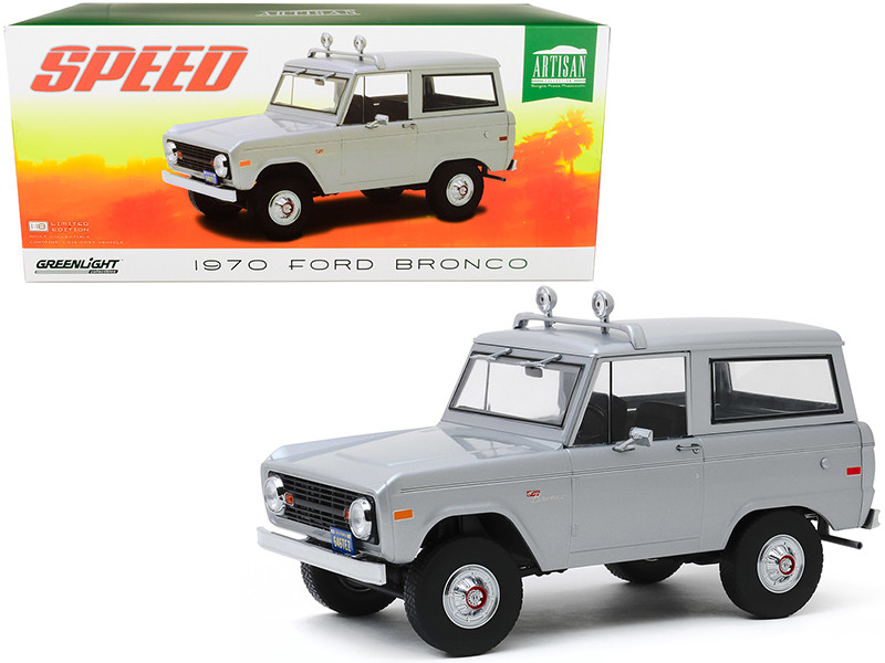 1970 Ford Bronco Gray Jack Traven's Speed 1994 Movie 1/18 Diecast Model Car Greenlight 19074