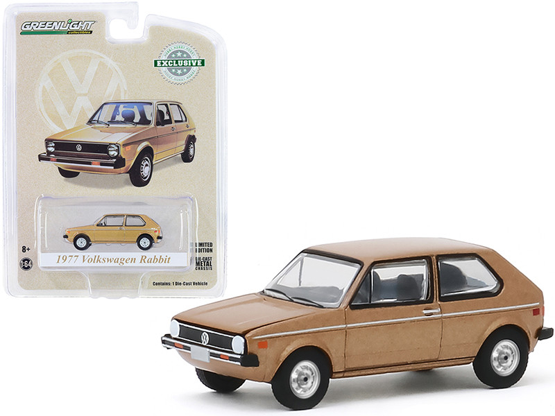 1977 Volkswagen Rabbit Champagne Metallic The Champagne Edition Hobby Exclusive 1/64 Diecast Model Car Greenlight 30099