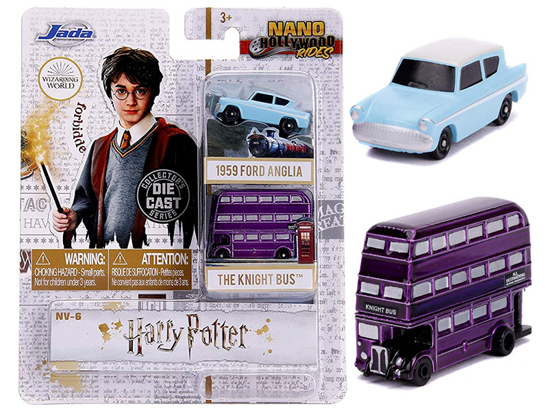 Harry Potter 2 piece Set Nano Hollywood Rides Diecast Models Jada 31719