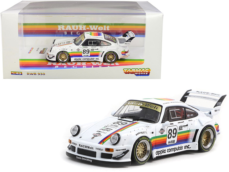 Porsche RWB 930 #89 Apple RAUH-Welt BEGRIFF 1/43 Diecast Model Car Tarmac Works T43-013-AP