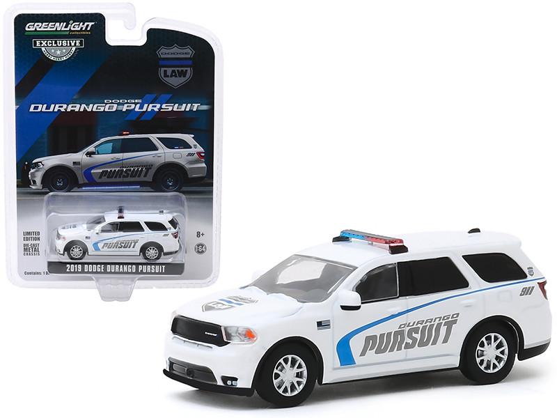 2019 Dodge Durango Pursuit Police SUV White Hobby Exclusive 1/64 Diecast Model Car Greenlight 30119