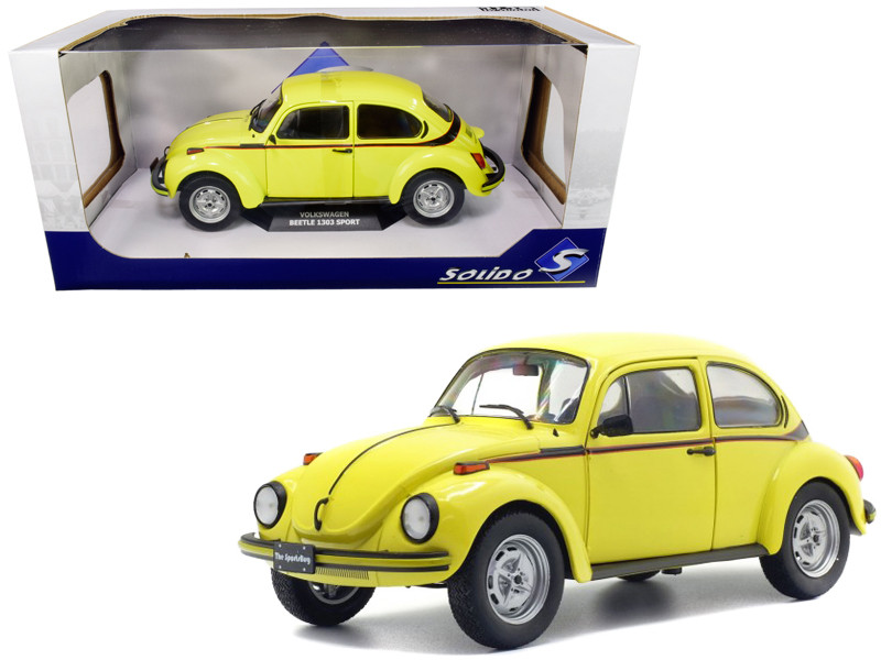 Volkswagen Beetle 1303 Sport Brilliant Gelb Yellow 1/18 Diecast Model Car Solido S1800511