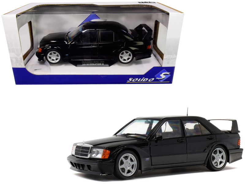 Mercedes Benz 190E Evolution II Black 1/18 Diecast Model Car Solido S1801001
