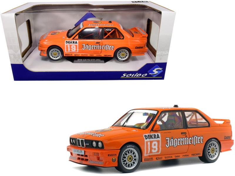 BMW E30 M3 #19 Armin Hahne Jagermaester The Deutsche Tourenwagen Meisterschaft DTM 1992 1/18 Diecast Model Car Solido S1801504