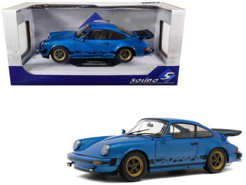 1984 Porsche 911 Carrera 3.0 Coupe Minerva Blue Metallic 1/18 Diecast Model Car Solido S1802601