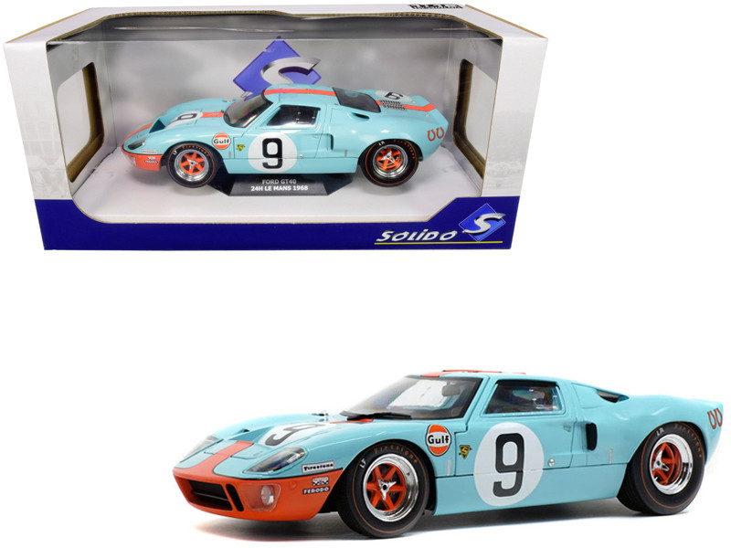 Ford GT40 MKI #9 Gulf Oil 24H of Le Mans 1968 1/18 Diecast Model Car Solido S180300