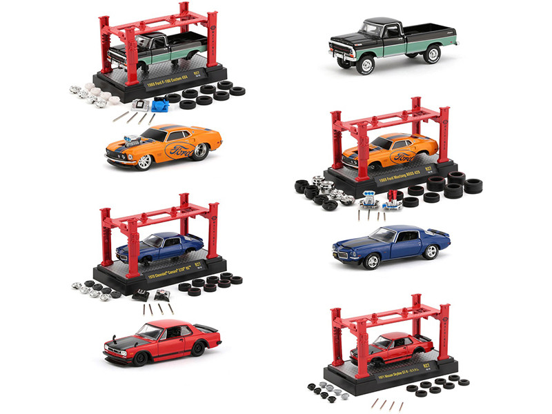 Model Kit 4 piece Car Set Release 27 1/64 Diecast Model Cars M2 Machines 37000-27