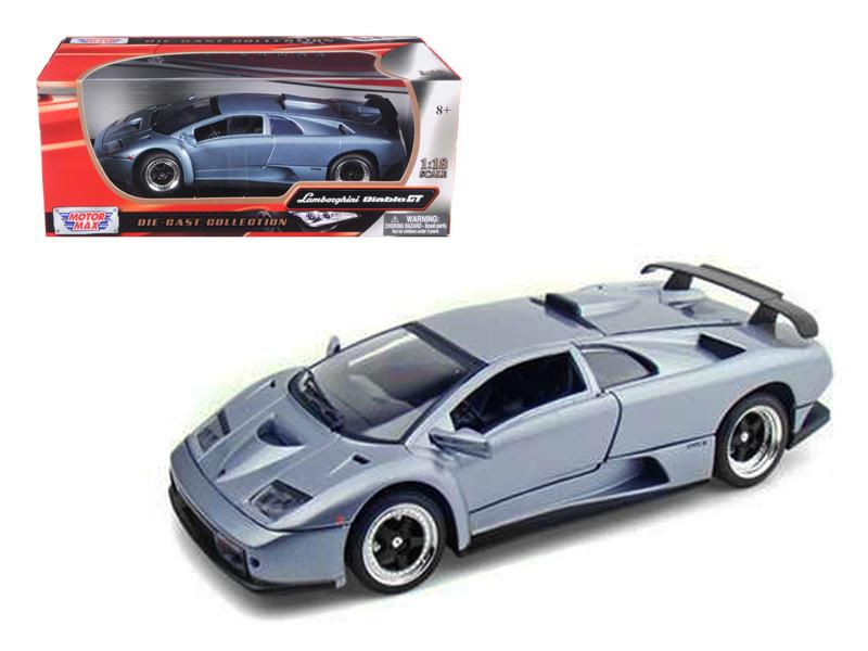 Lamborghini Diablo GT Silver 1/18 Diecast Model Car Motormax 73168
