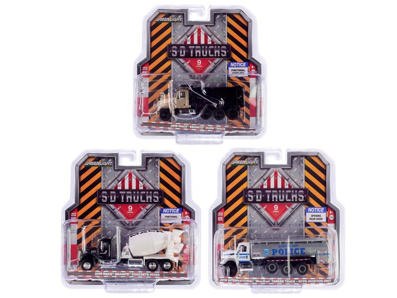 SD Trucks Series 9 Set of 3 pieces 1/64 Diecast Models Greenlight 45090