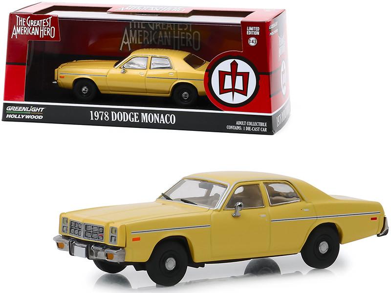 1978 Dodge Monaco Yellow The Greatest American Hero 1981 1983 TV Series 1/43 Diecast Model Car Greenlight 86555